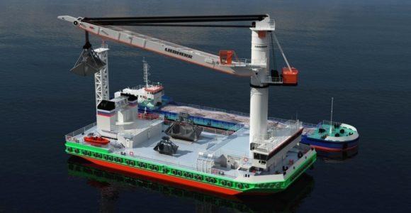 Многоцелевое судно с горизонтальным способом грузообработки2