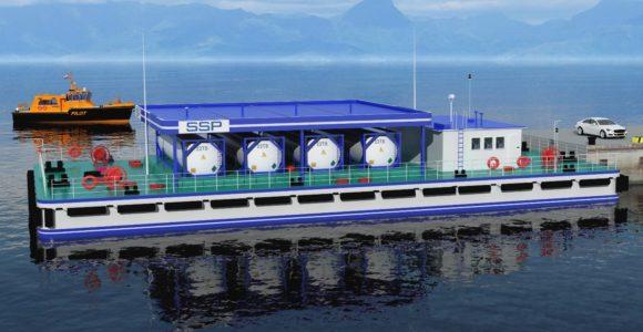 Плавучая заправочная станция для судов