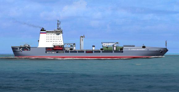 Большой морской танкер